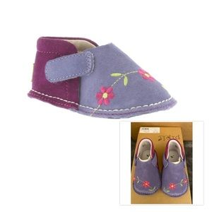 NWT! Eco-Brand Pipit Suede European Shoes 9-12 Mo.